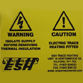 Trace Heating Warning Labels